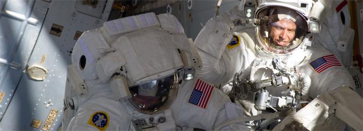 Astronauté Mike Fincke a Greg Chamitoff