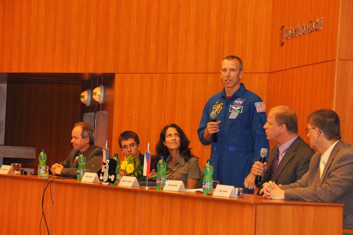 Andrew Feustel na Univerzitě Tomáše Bati ve Zlíně